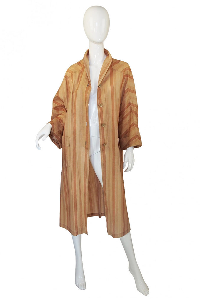 1973 Valentino Striped Lightweight Coat