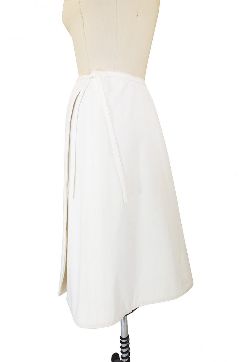1970s Valentino Cotton Wrap Skirt