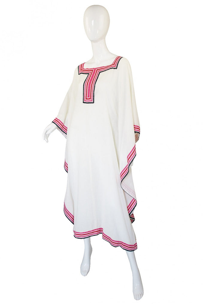 1970s Ungaro Cotton Beach Caftan