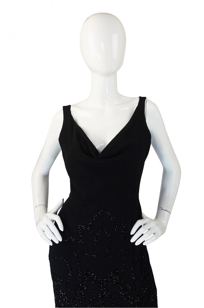1990s Beaded Backless Valentino Dress