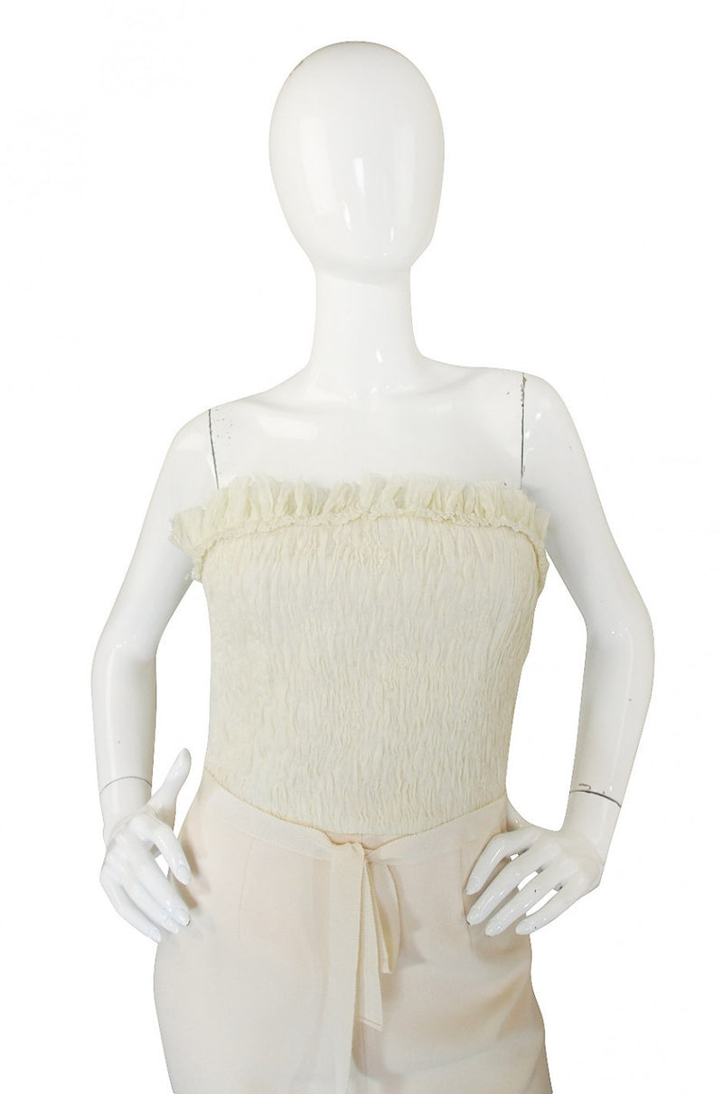 Spring 2008 Giambattista Valli Strapless Ivory Fitted Dress