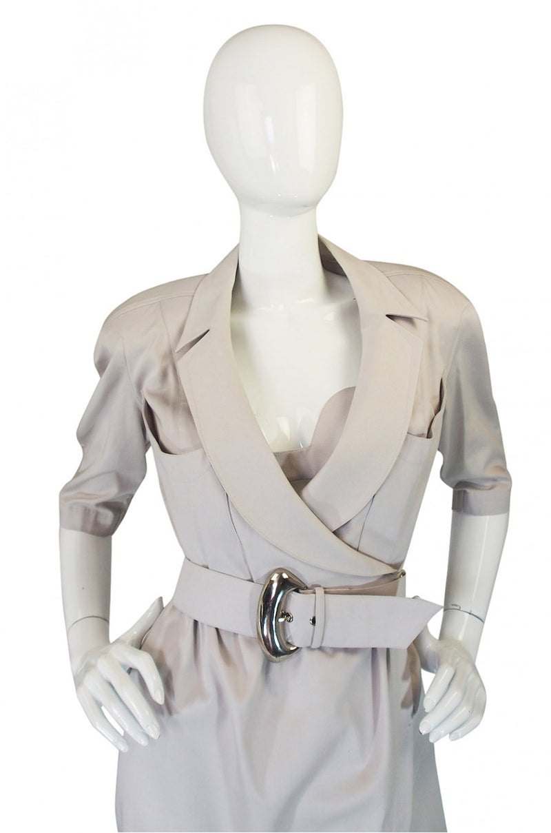1980s Thierry Mugler Wrap Dress with Matching Bralette