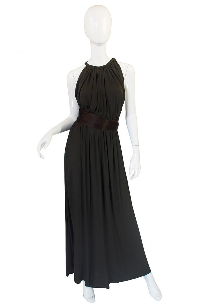 1960s Backless Donald Brooks Gown
