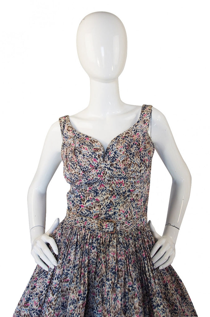 1950s Suzy Perette Spring Silk Dress