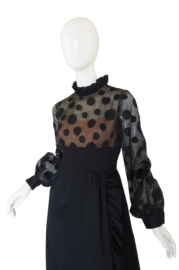 1960s Bullocks Wilshire Dot Dress