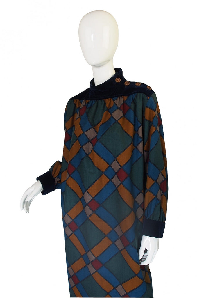 1980s Yves Saint Laurent Sack Dress
