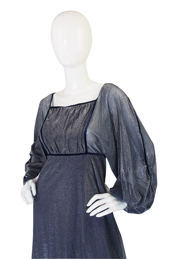 Now On Sale - 1970s Janice Wainwright Silver Lurex Dress