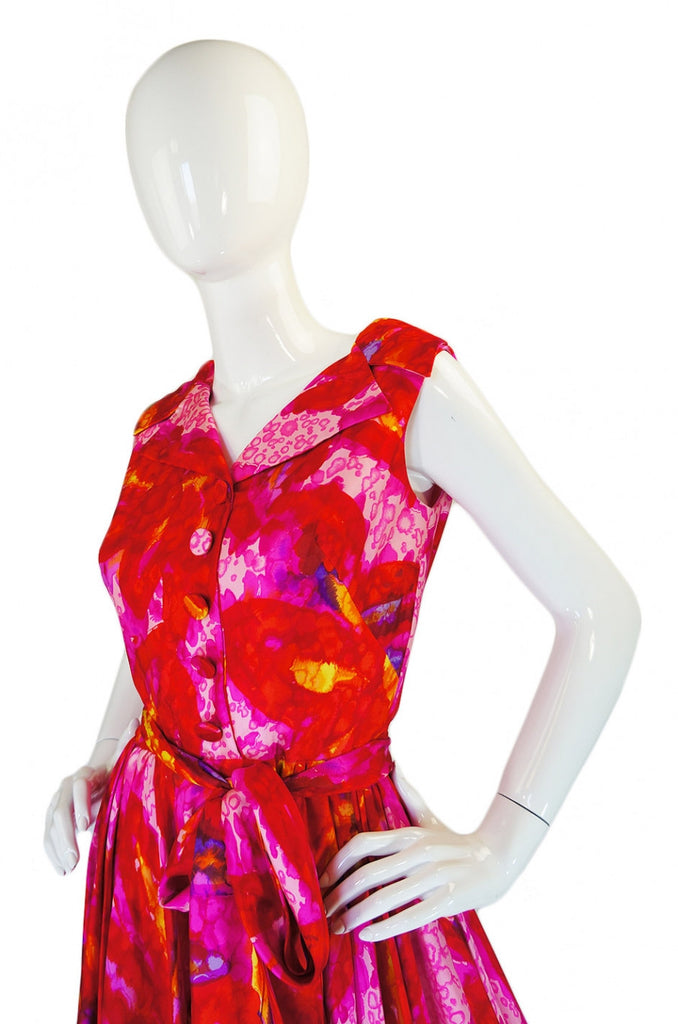 1960s Coral Mr Blackwell Party Dress