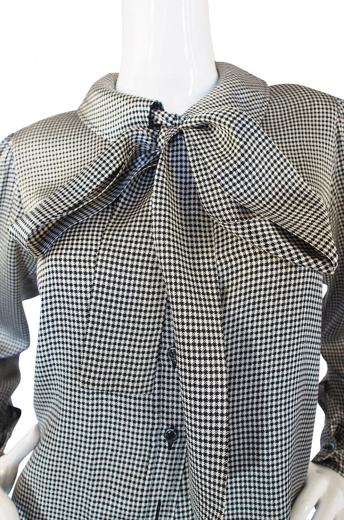 1970s Silk Yves Saint Laurent Bow Top