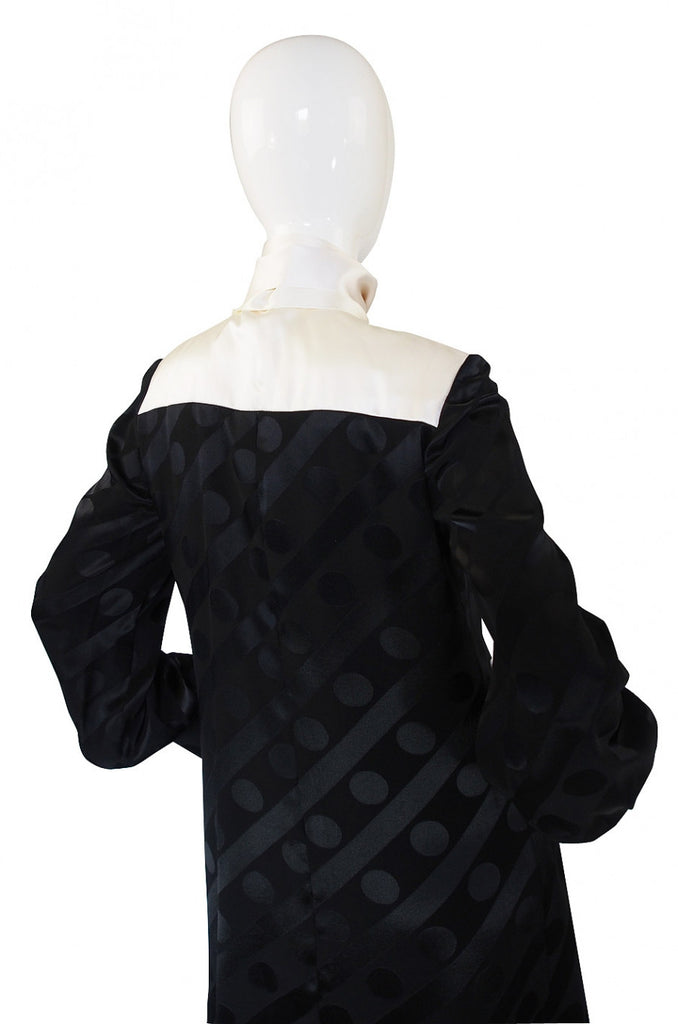 1960s Baroco Silk Demi-Couture Dress