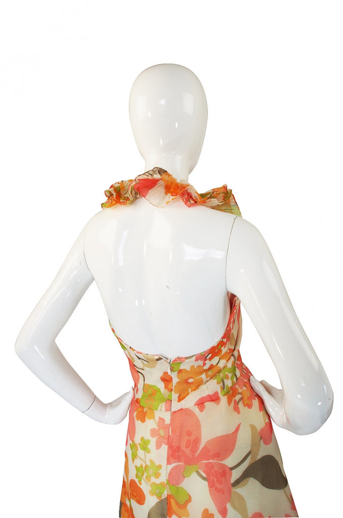 1970s Ruffled Pierre Cardin Dress