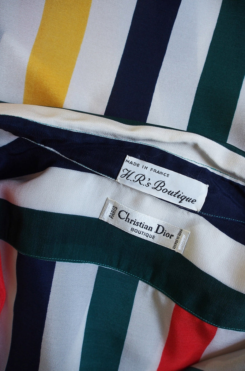 1977 Christian Dior Striped Top