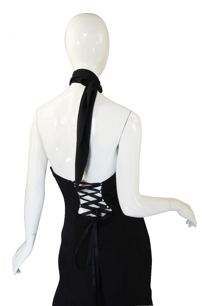 1990s Corset Back Ozbek Dress
