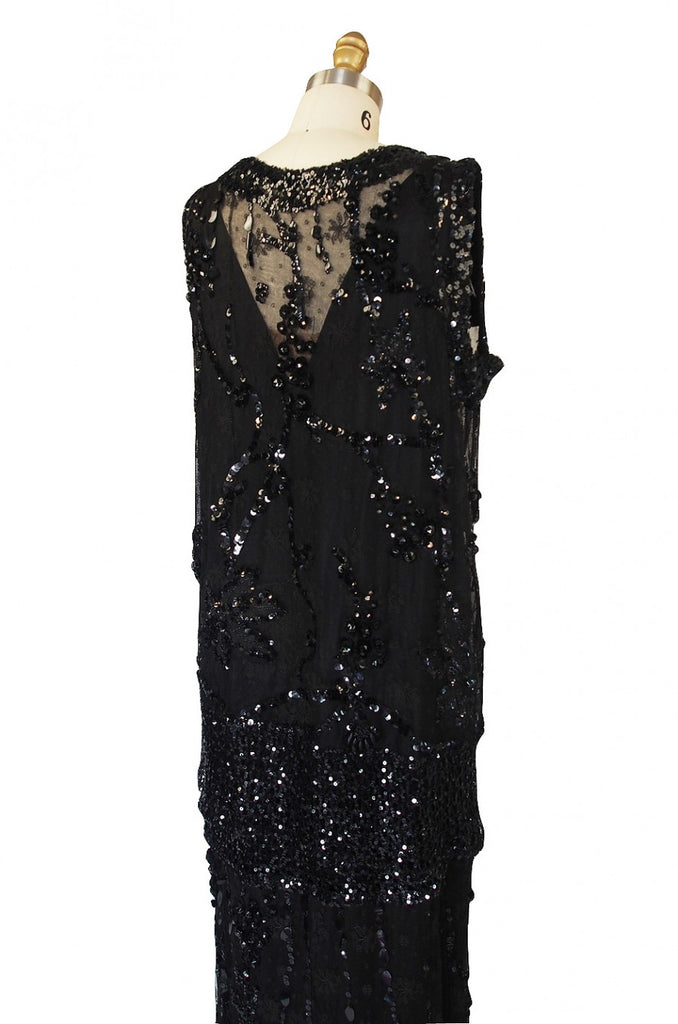 1920s Incredible Lace Bead & Sequin Gown