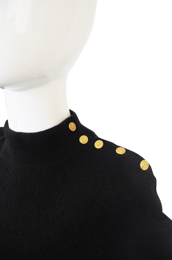 1980s Scottish Cashmere Chanel Sweater