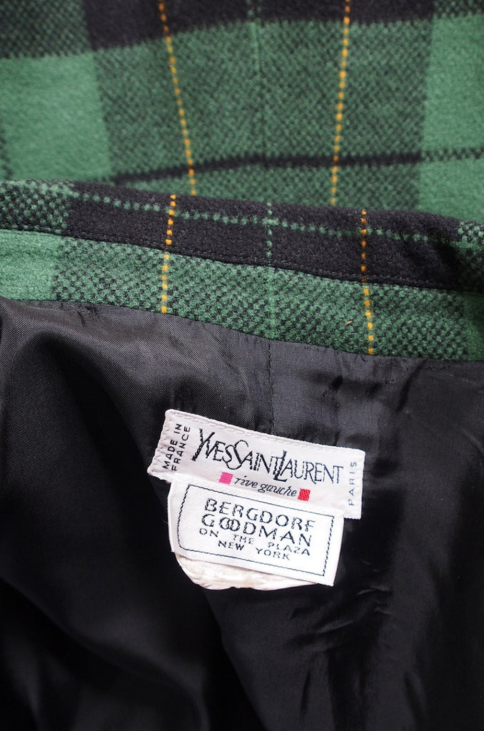 1980s Yves Saint Laurent Plaid Jacket