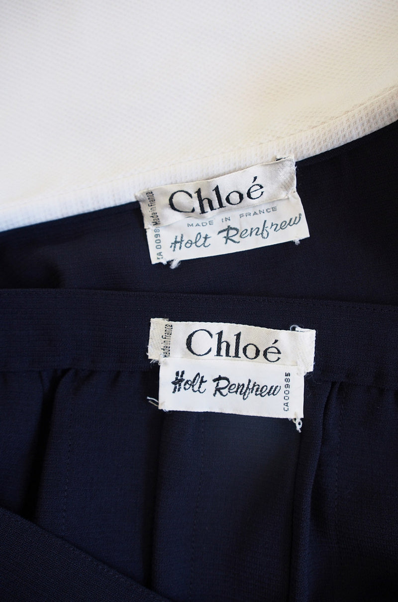 1970s Lagerfeld for Chloe School Girl Set