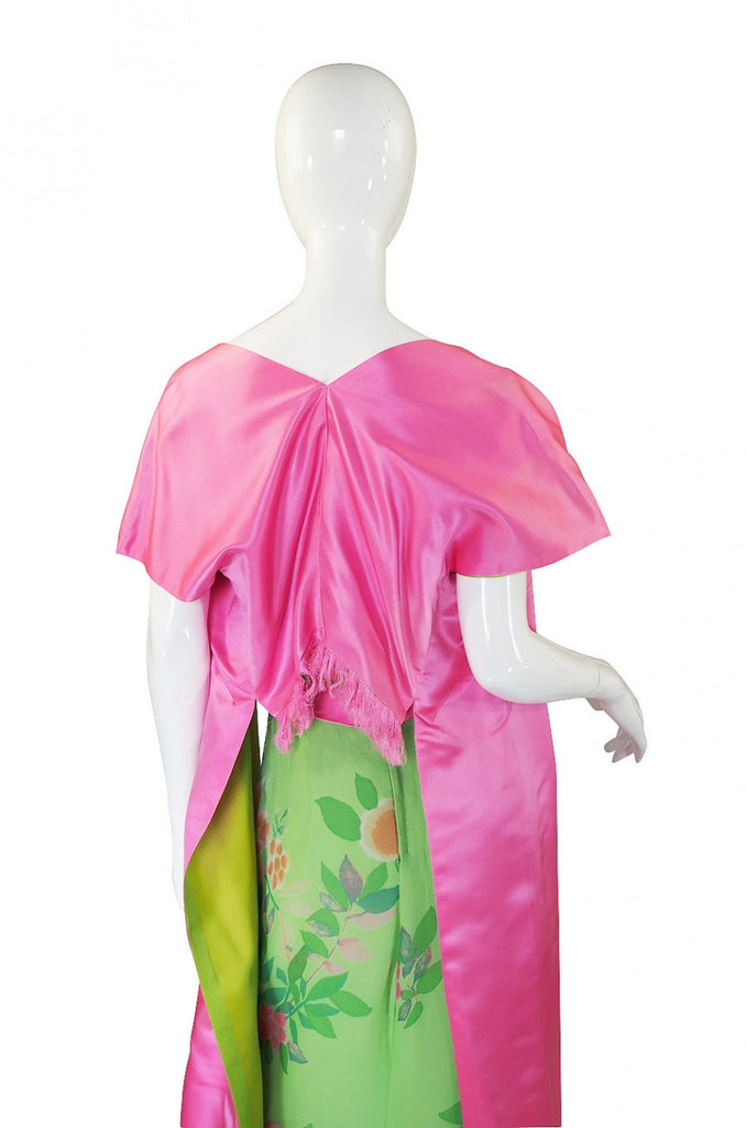 1950s Philip Hulitar Strapless Silk Dress &  Skirted 1/2 Jacket