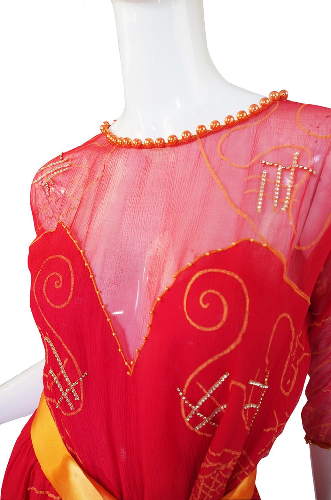 1979 Zandra Rhodes Water Circles Dress