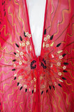 1978 Book Piece Zandra Rhodes Mexican Fan Caftan