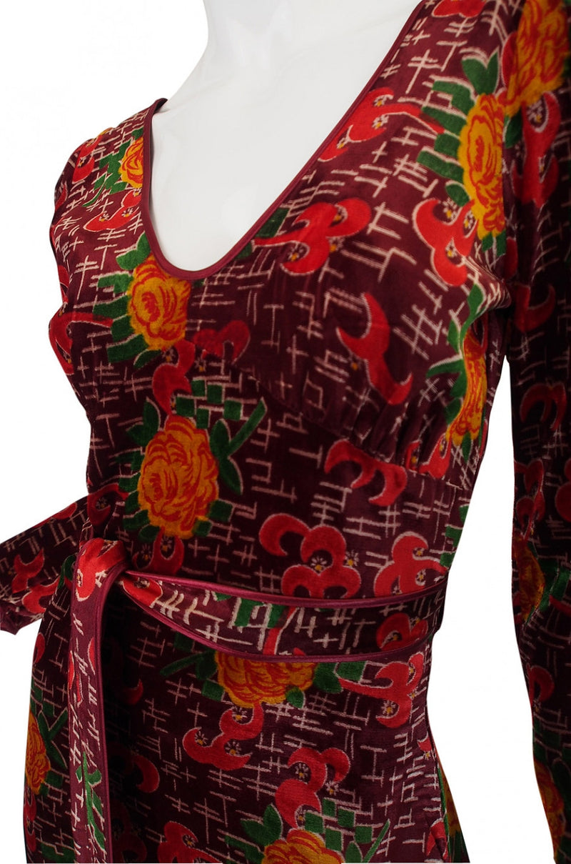 1970s Alley Cat Betsey Johnson Wrap Dress