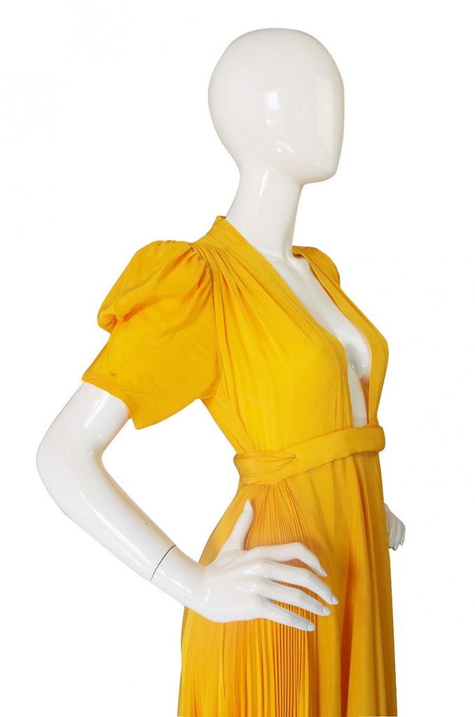 1970s Rare Couture Ossie Clark Gown