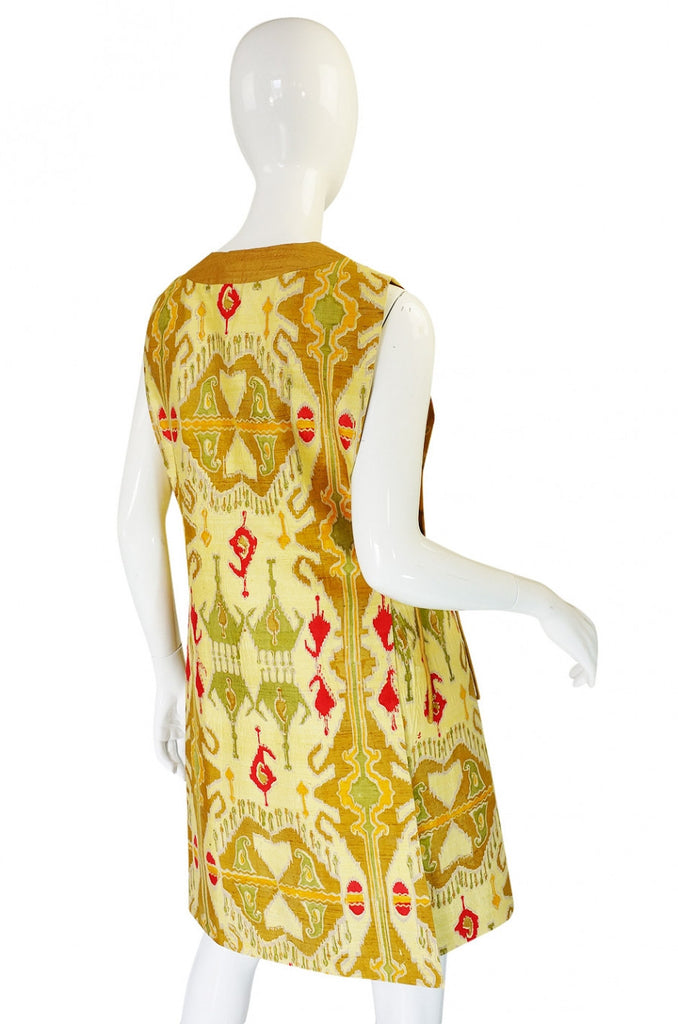 1960s Hand Print SIlk Pierre Cardin Shift