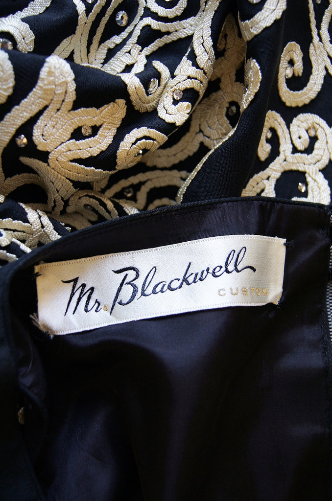 1960s Corded Mr. Blackwell Custom Gown