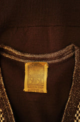 1960s Gold Metallic Thread Biba Sweater
