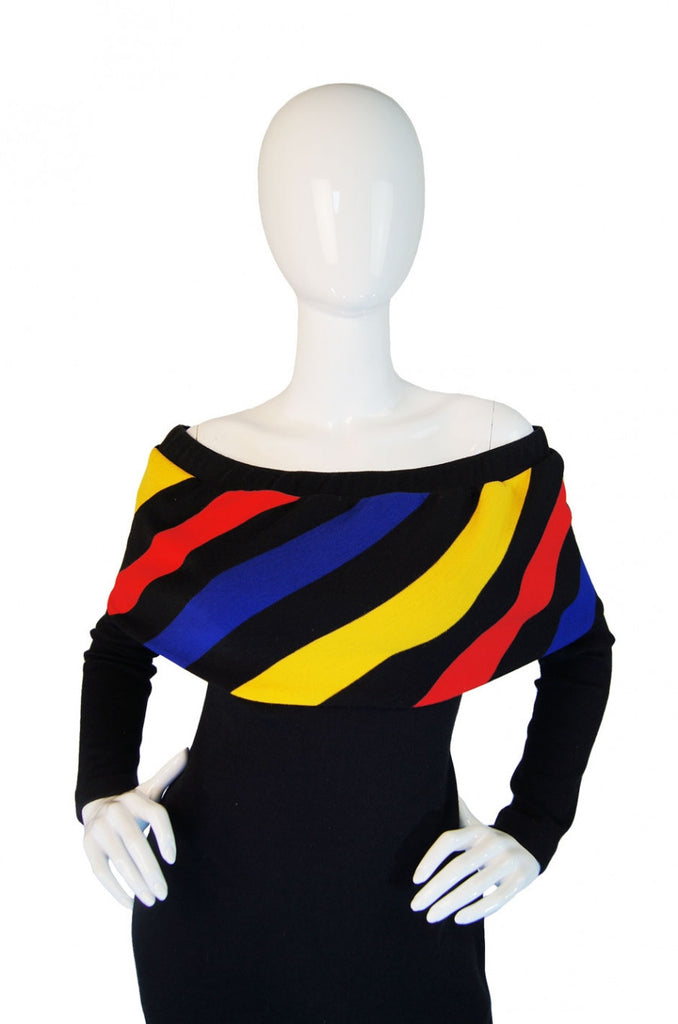 A/W 1989 Striped Off Shoulder Patrick Kelly