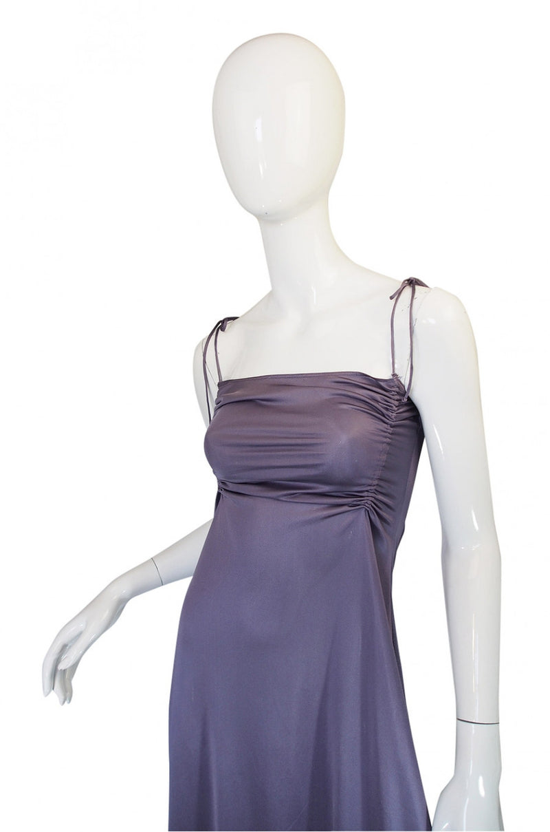 1970s John Kloss for Circa Purple Nylon Gown