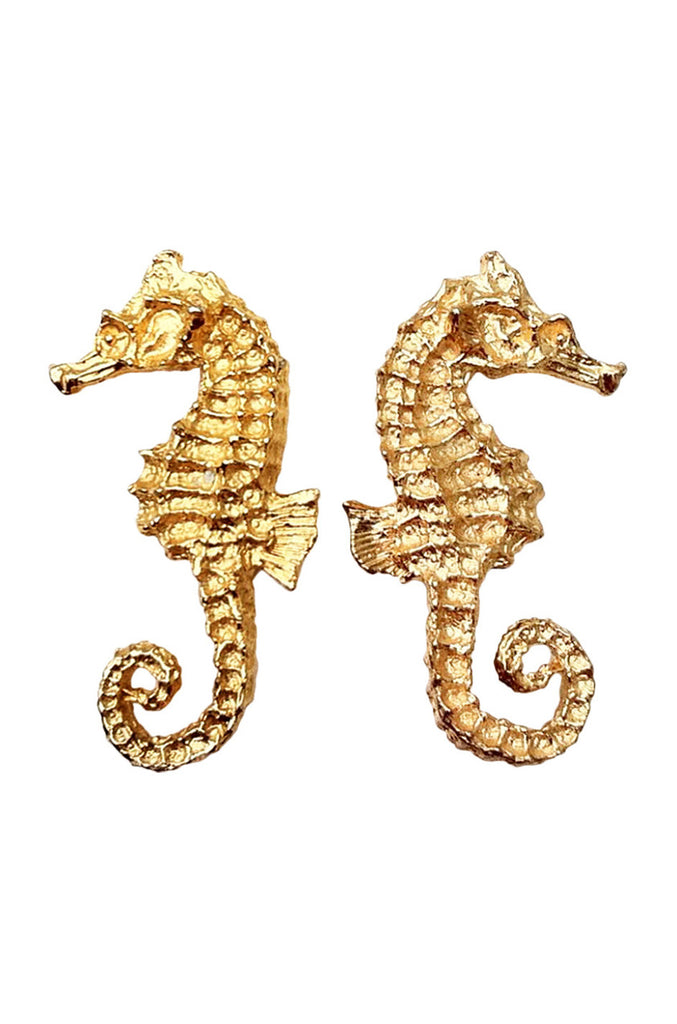 WILLIAM de LILLO Sea Horse Earrings 1968