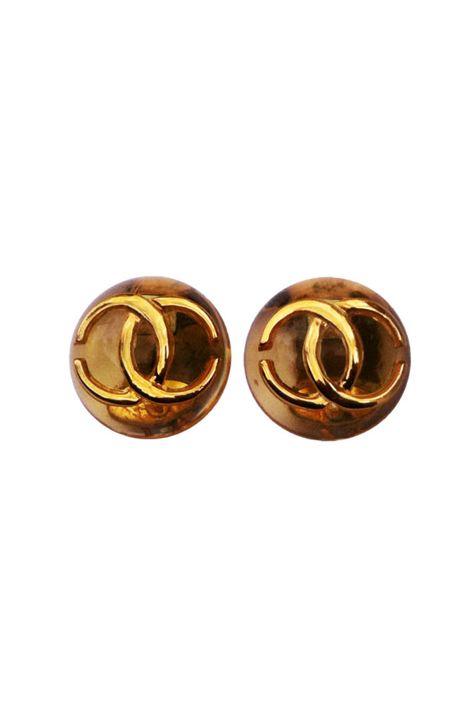 Rare CHANEL Lucite Earrings 1980s