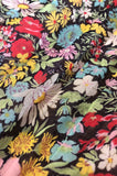 Documented 1975 Yves Saint Laurent Floral Print Off Shoulder Dress