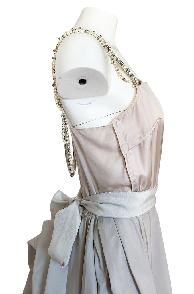 c.2012 Alber Elbaz for Lanvin Special Blanche Nude Blush Silk Wedding Gown