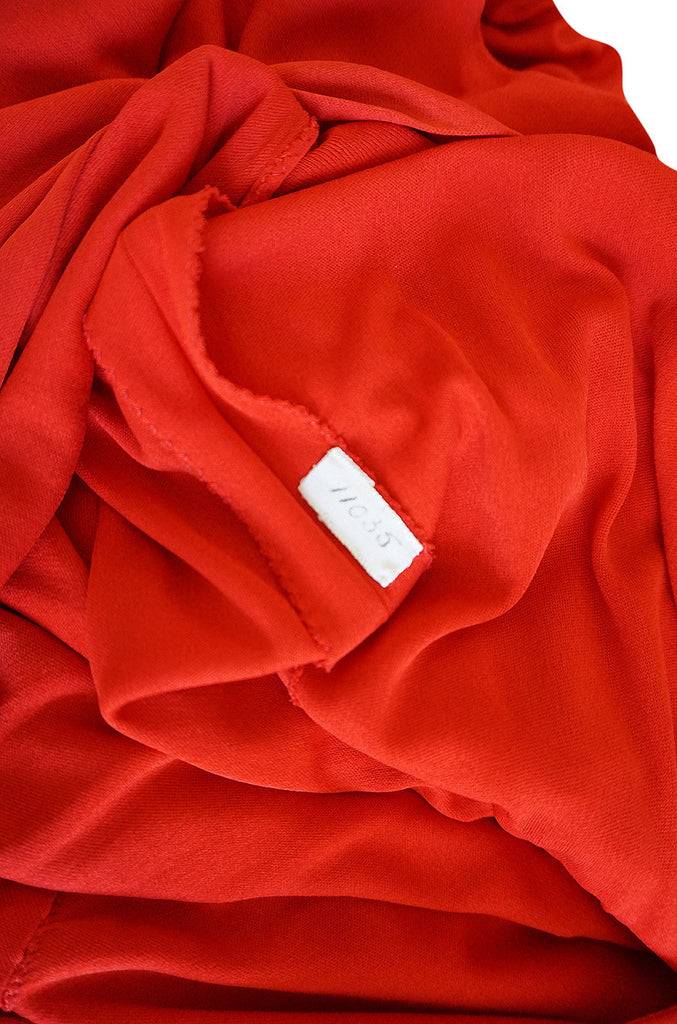 Treasure Item - 1977 Dior Couture Red Jersey Dress
