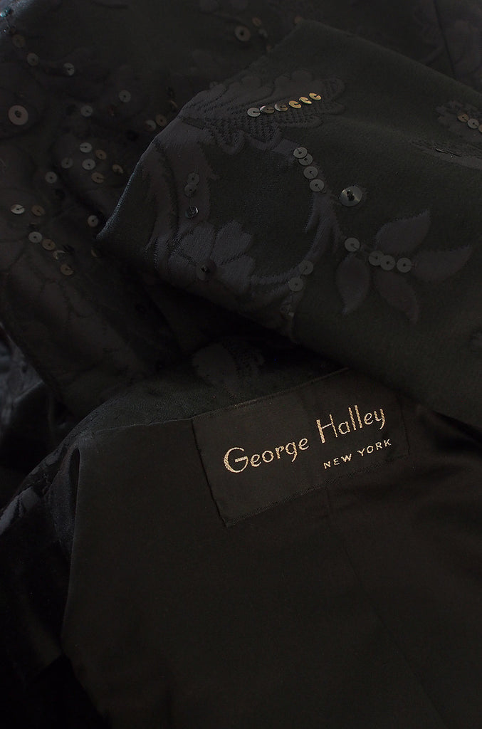 1960s Phenomenal George Halley Sequin Evening Coat