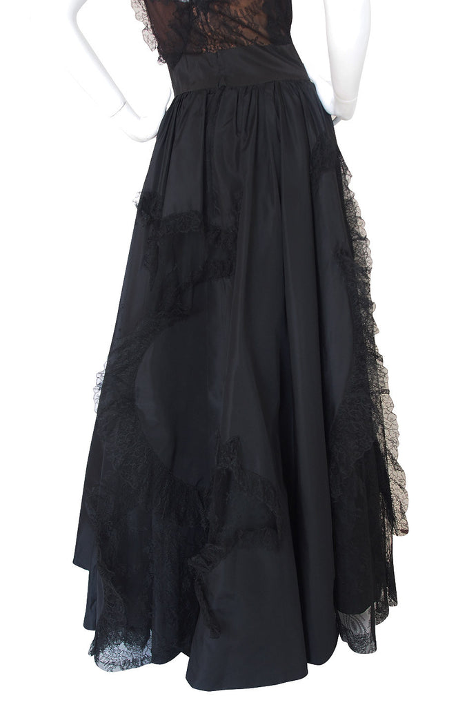 "Rare 1942 ""It's Not True"" Adrian Silk & Lace Gown"
