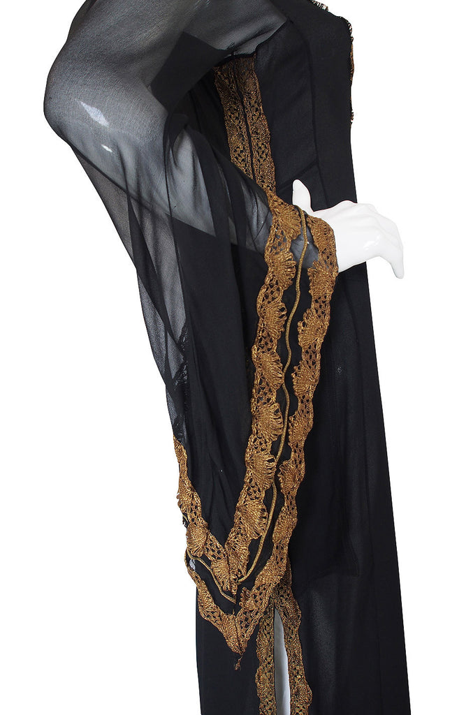 Important 1968 Thea Porter Silk Chiffon Caftan Dress