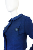 1950s Rare Christian Dior for Japan Blue Suit