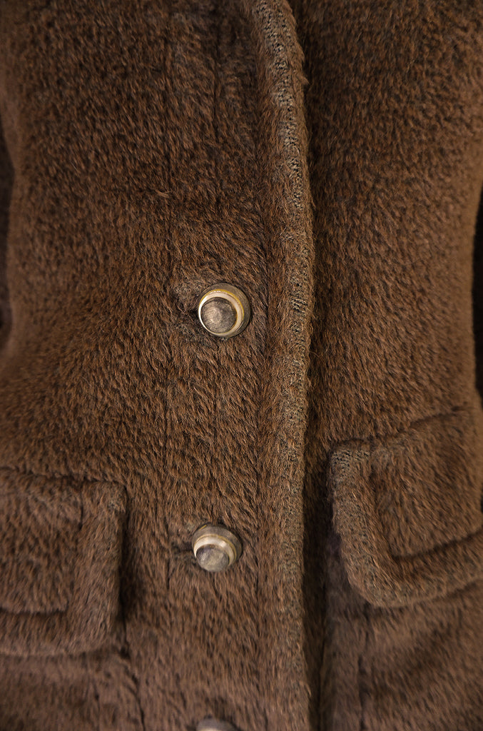 1960s James Galanos 'Teddy Bear' Faux Fur Coat