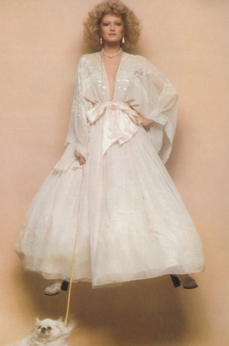 1974 Zandra Rhodes Lillies of the Field Gown