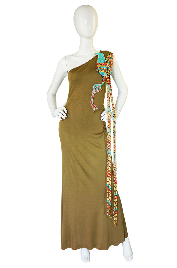 1970s Amazing Bob Mackie Beaded Maxi