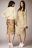 Resort 2014 Burberry Prorsum Hammered Gold Sequin Skirt