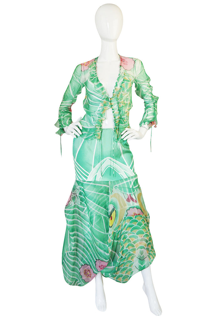 Fall 2003 Runway Galliano for Christian Dior Silk Top & Skirt