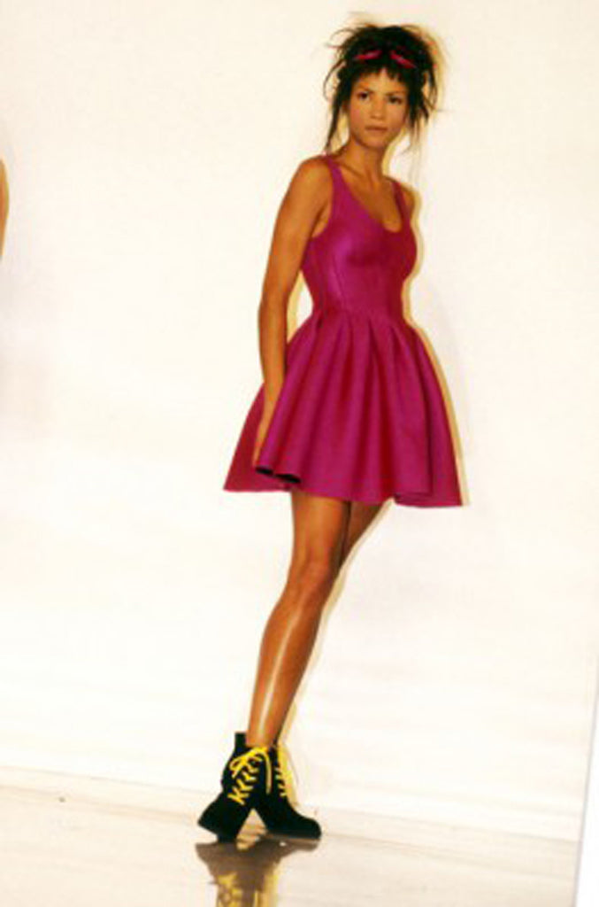 F/W 1994 Donna Karan Museum Held Neoprene Mini Dress