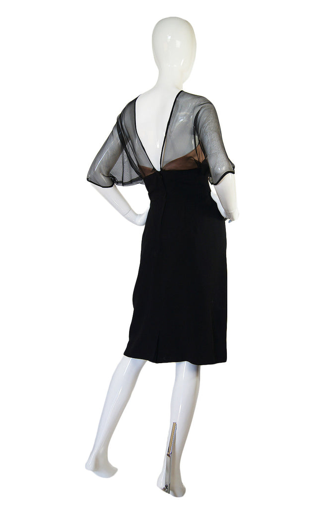 1950s Harvey Berin Silk Illusion Dress