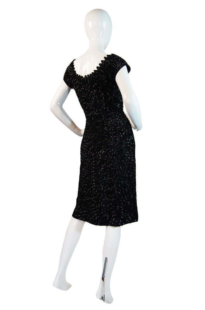 1940s Amazing Full Sequin Pin Up Dress