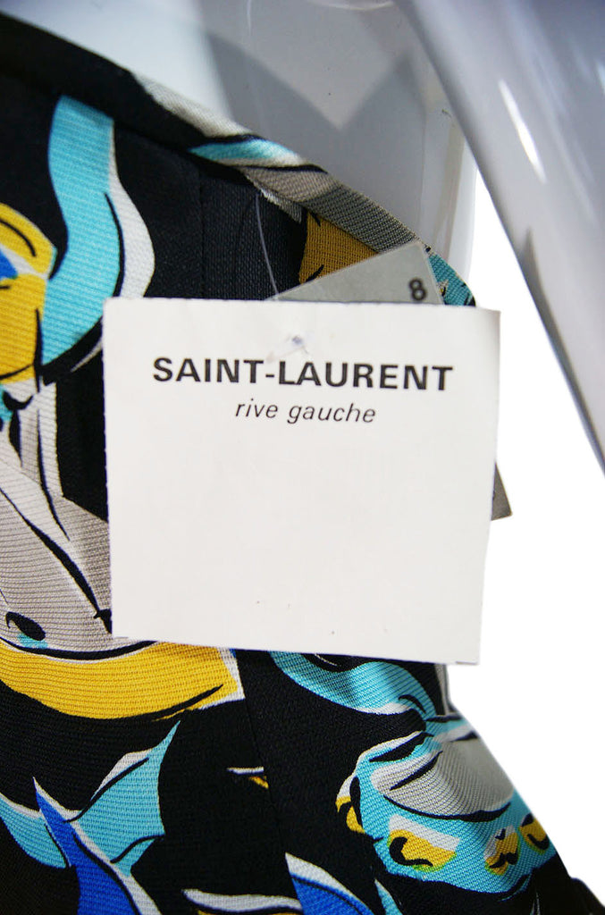 1970s YSL Tagged, Unworn Silk Gown