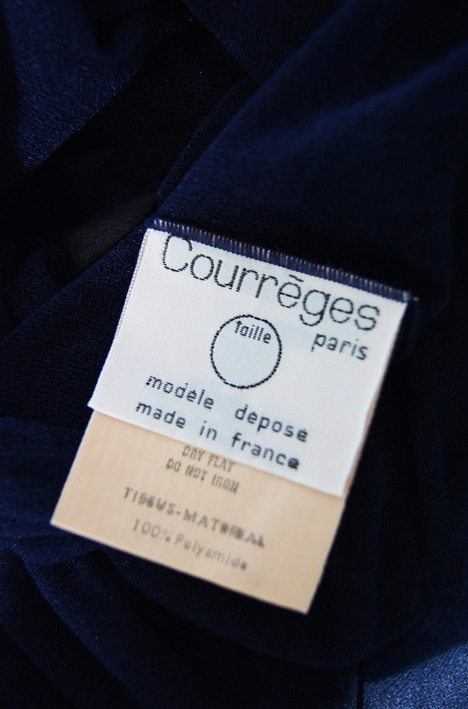 1970s Courreges Mesh Top Org. Packet
